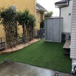 【人工芝でメンテナンスほぼフリーなお庭造り】