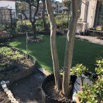 【お庭の一部を人工芝にリノベーション!!】