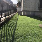 【砂利のお庭を人工芝にリノベーション】