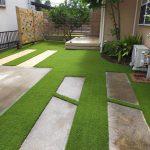【お庭に人工芝で子供達が安心・安全に遊べる環境にリノベーション】